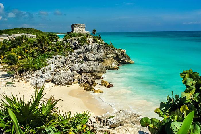 playa ruinas mayas mexico caribe
