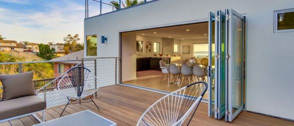 terraza abierta puerta corredera