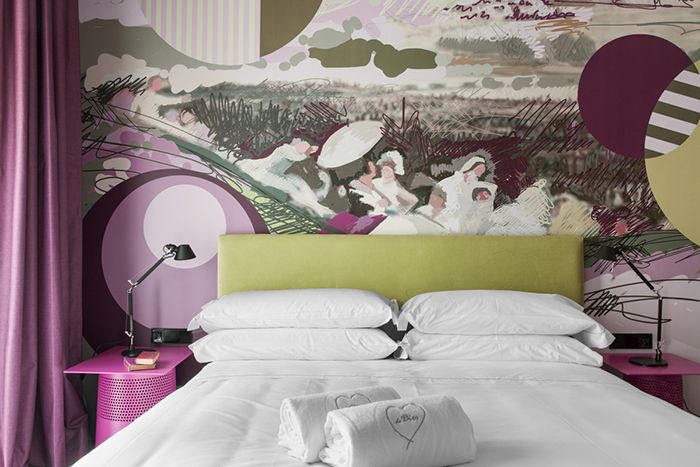 dormitorio doble collage escenas madrid antiguo sapey