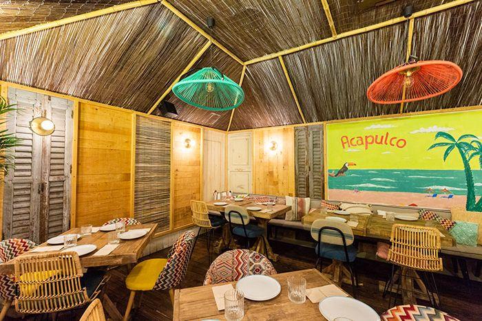 espacio techo caña palapa restaurante