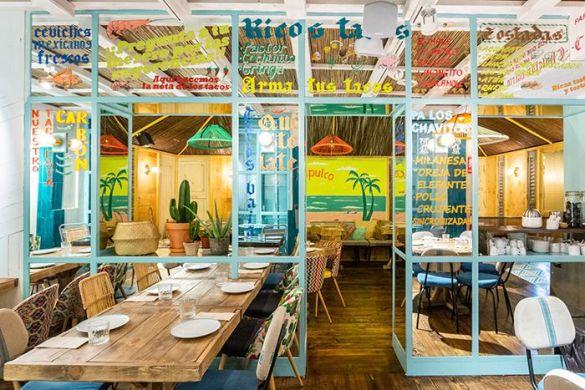 ventanal colorido restaurante mexico