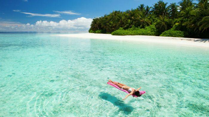 desconectar mar maldivas
