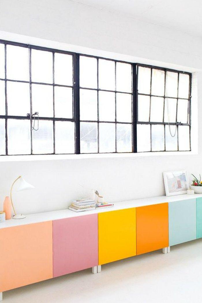 mobiliario colorido