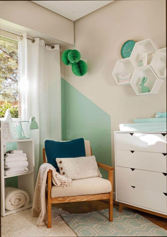 tonos verdes habitacion