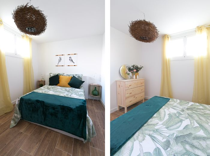 dormitorio inspiracion tropical y naturaleza