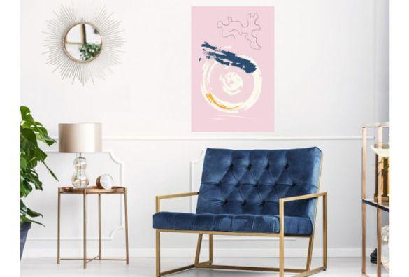 decoracion paredes cuadros rosas