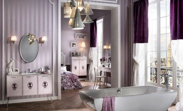 cuarto de baño estilo victoriano