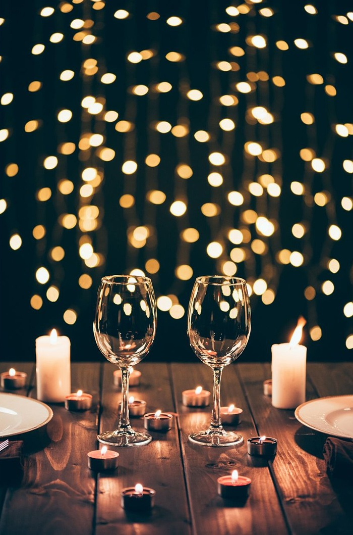 mesa noche luces