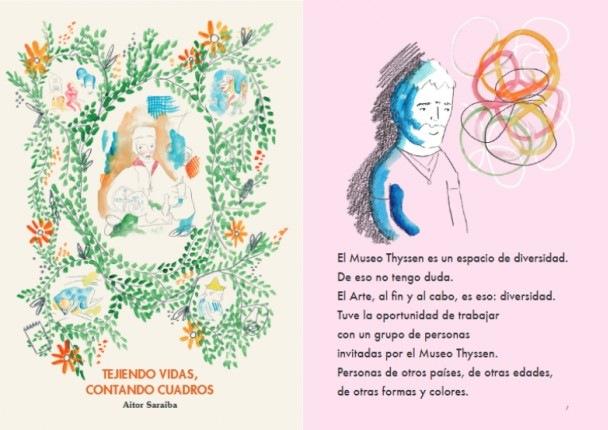 Tejiendo vidas, contando cuadros: una novela gráfica en lectura fácil de Aitor Saraiba