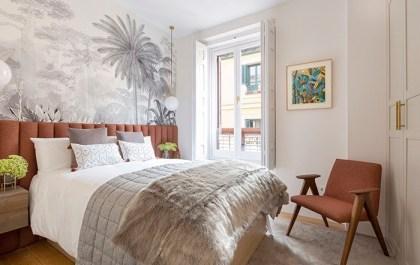dormitorio mid century modern