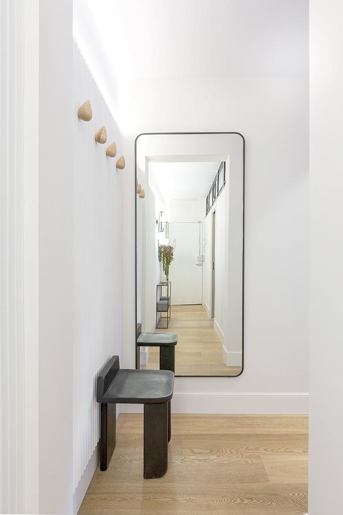 espejo redondeado borde negro