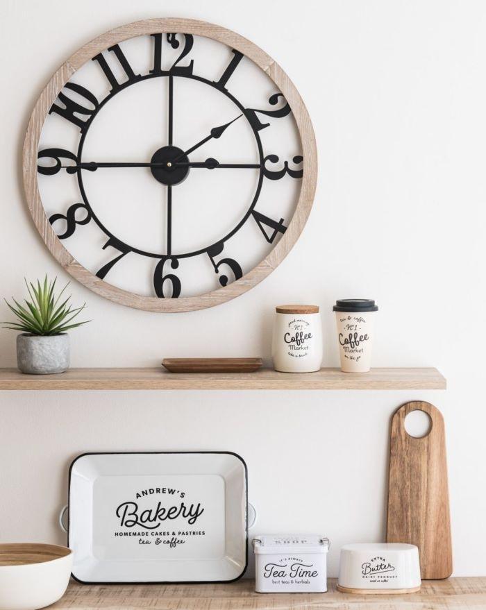 Reloj bicolor grande para colgar en la pared, Maisons du Monde