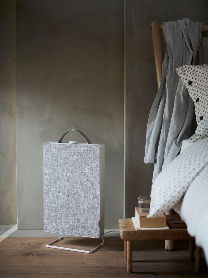 Purificador de aire de IKEA con parte de textil