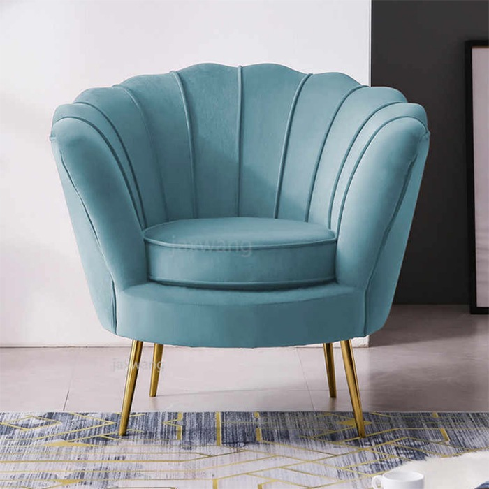 butaca art deco azul turquesa