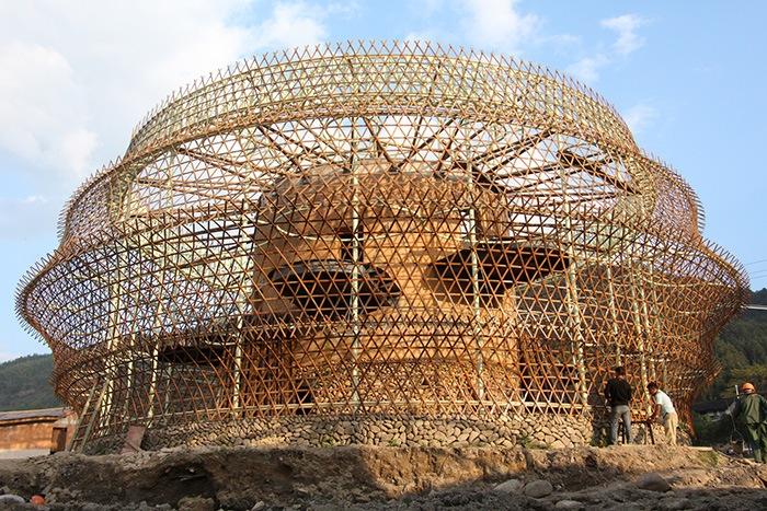 Ganador concurso arquitectónico ArchDaily 2021 cúpula bambú