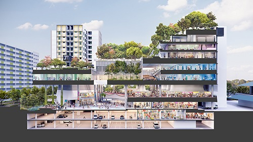 Cohousing en Singapur conjunto de edificios