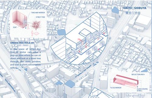 Proyecto Cohousing Urban Tree Hole en Tokio