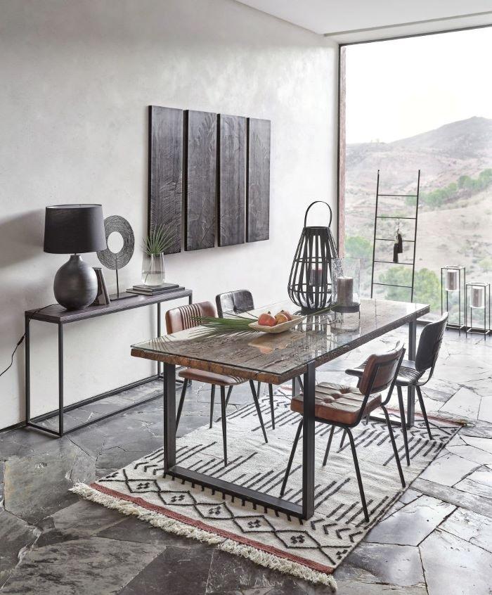 Mesa de comedor estilo exótico