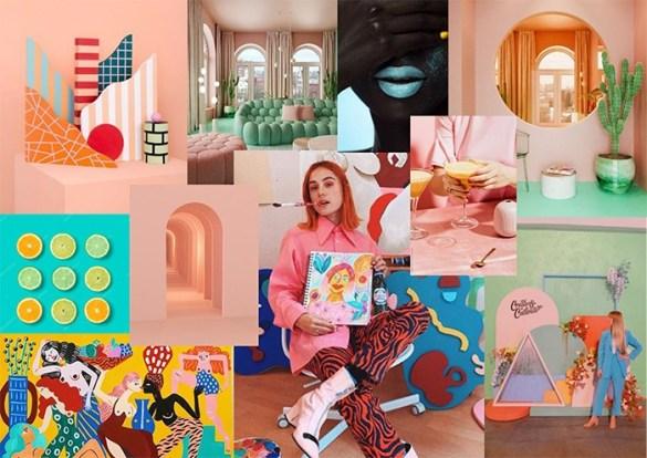 Diseño galeria de arte moodboard creado pro Aroa solana