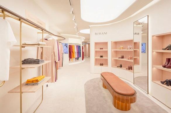 diseño tienda ropa rosa
