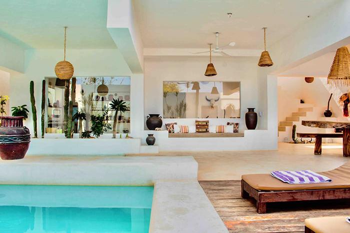 espacio estilo boho y mediterraneo en casa Alegría Airbnb México