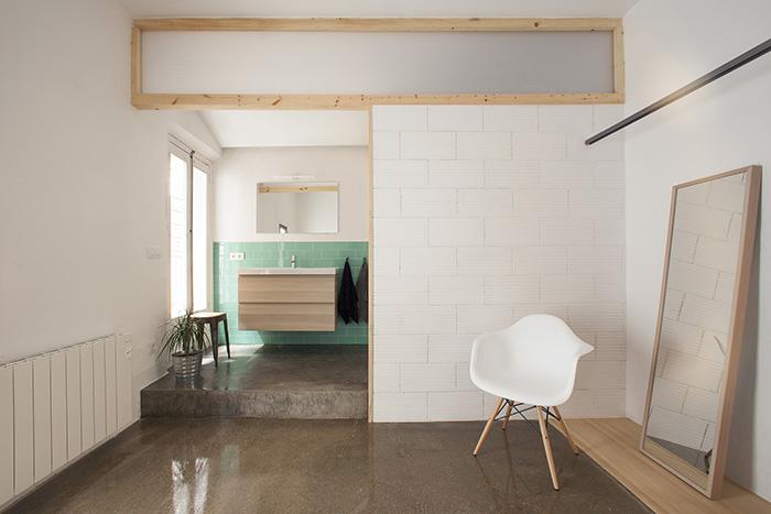 Habitación proyecto Twin House al estilo nórdico mediterráneo por Nook Architects