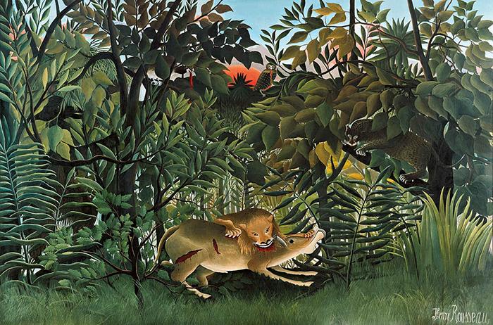 jungla leon comer antilope