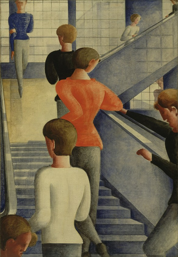 oskar personas en escalera