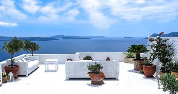 terraza frente al mar