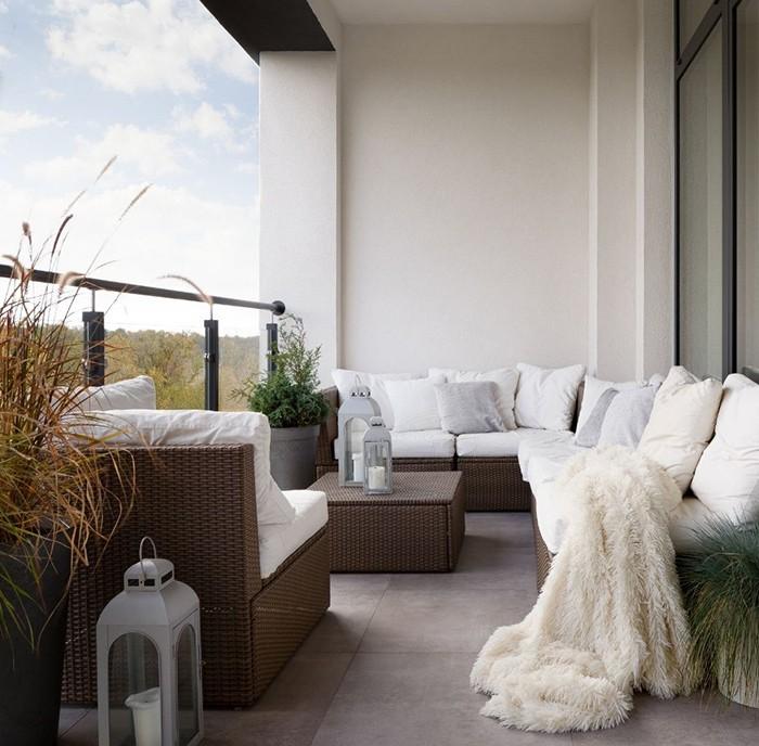 terraza acogedora