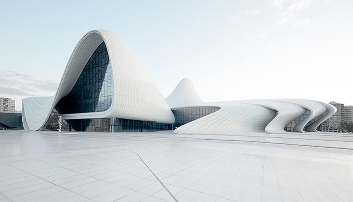 Centro Heydar Aliyev vista exterior