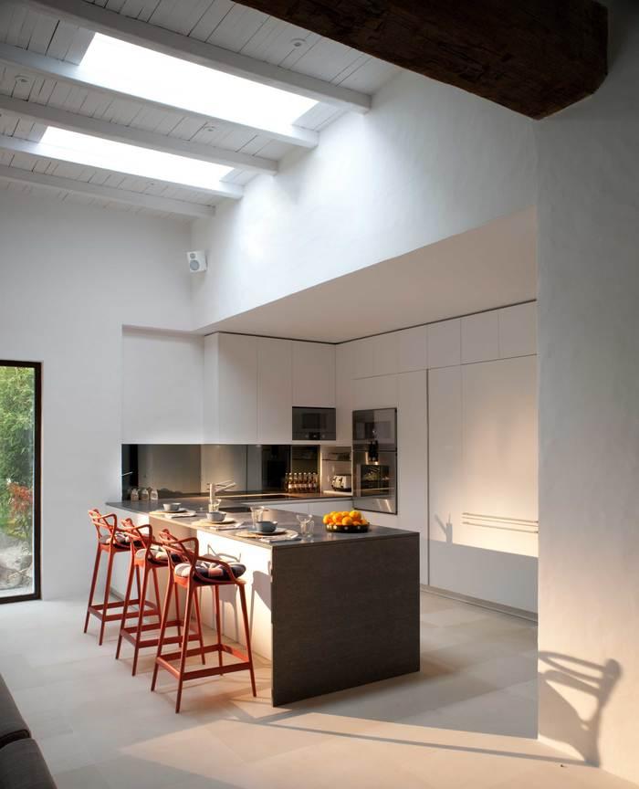 cocina estilo ibicenco proyecto villa Can Bikini