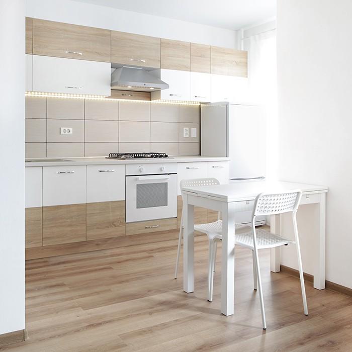 suelo laminado estilo madera cocina