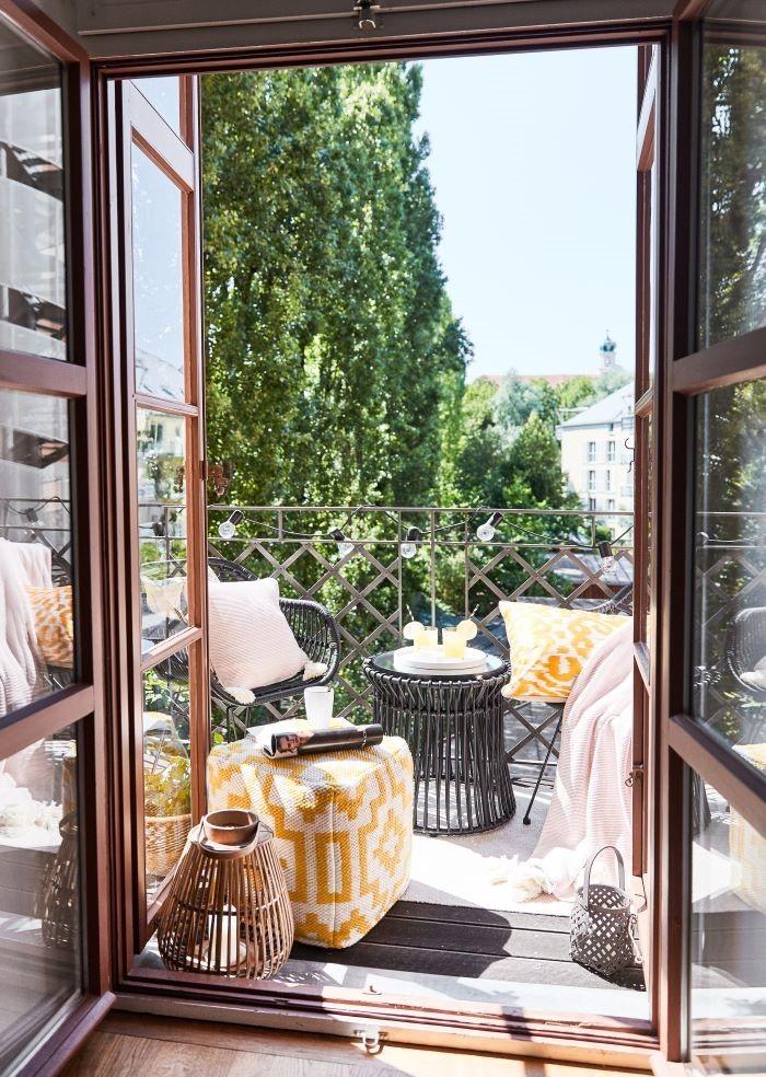 Decoración Westing para zona exterior de balcón pequeño
