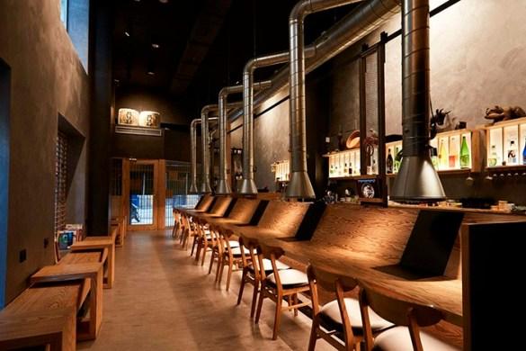 rokuseki interior restaurante japones