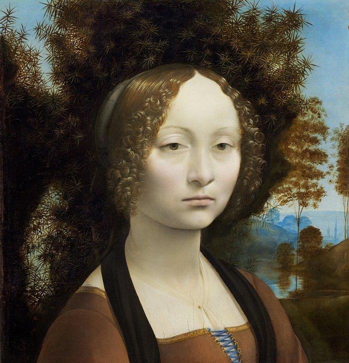 Obra de Da Vinci Retrato de Ginebra de Benci