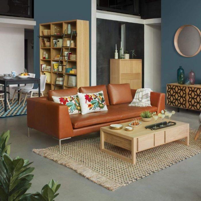sofá de piel vintage Habitat