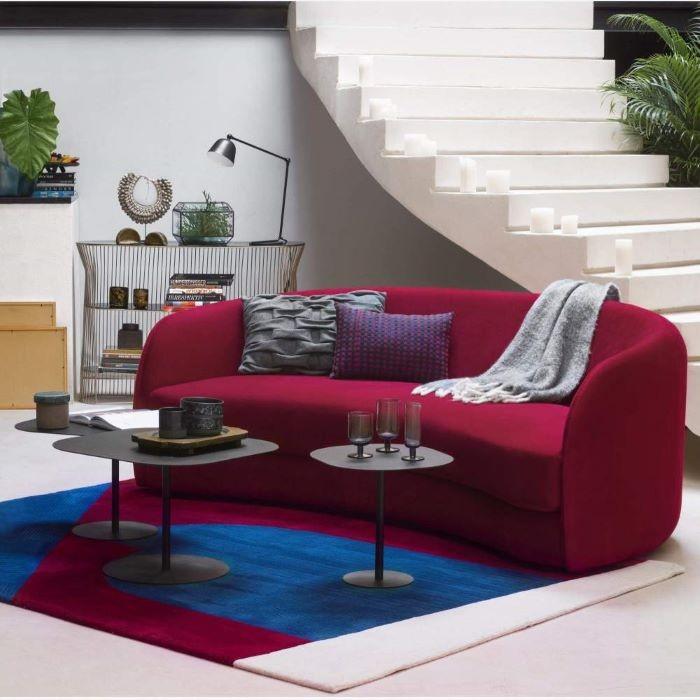 sofá de terciopelo Habitat