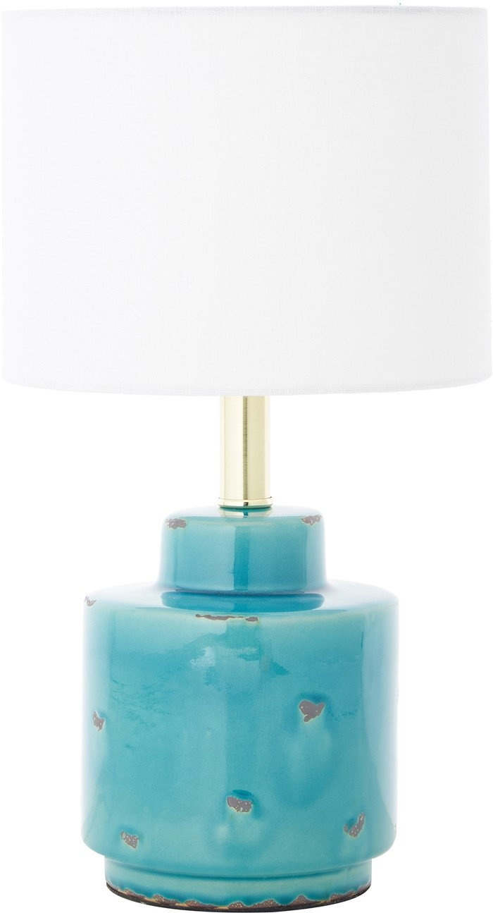 luz interior azul blanco