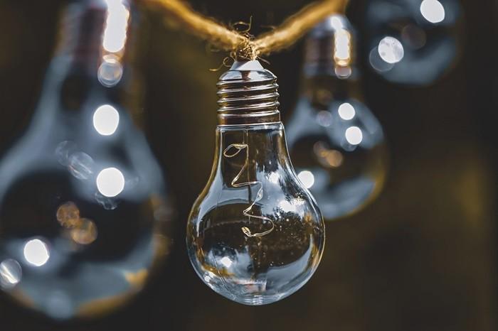 cuerda bombillas luz cristal
