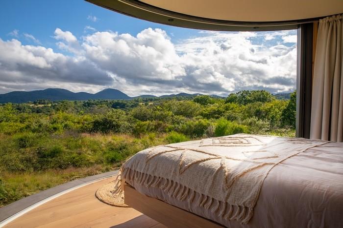 cama vistas naturaleza nubes
