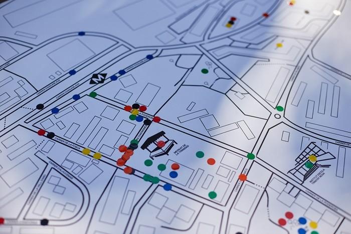 mapa circulos colores calle