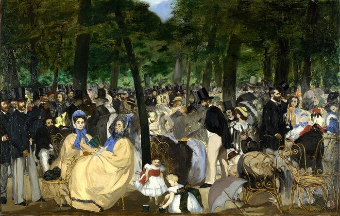 Obra pictórica Música en las Tullerías de Manet