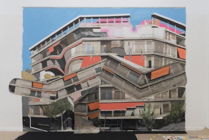 arte edificio distorsionado