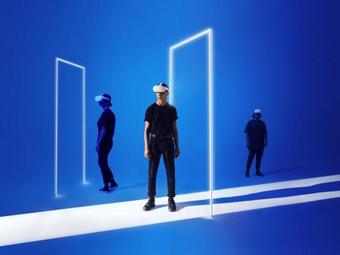realidad virtual montaje gafas