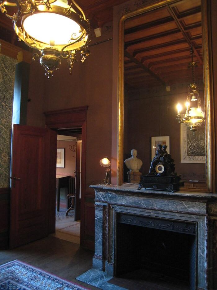 rincón interior Casa Autrique construida por Víctor Horta