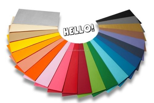 sobres-de-papel-de-colores-hello para invitaciones de boda