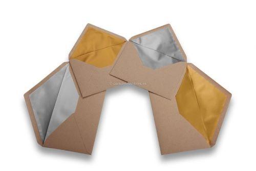 sobres-de-papel-kraft-forrados como invitaciones de boda