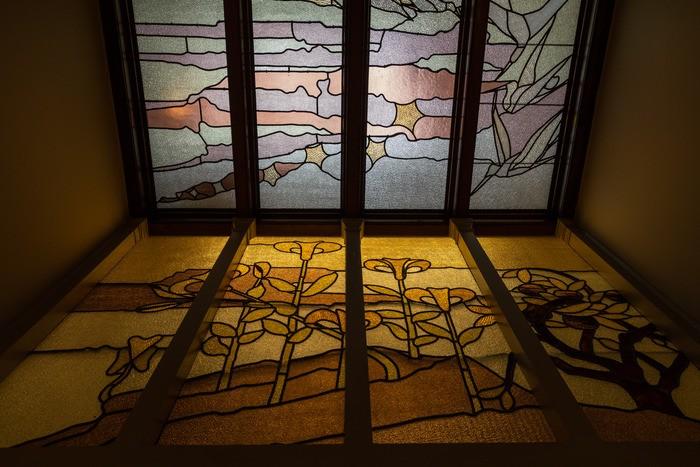 vidrieras interiores Casa Autrique construida por Víctor Horta