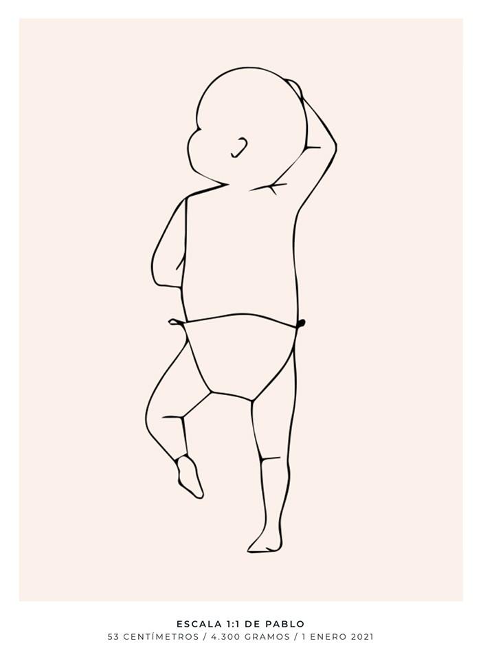 lamina tamaño bebe a escala personalizada